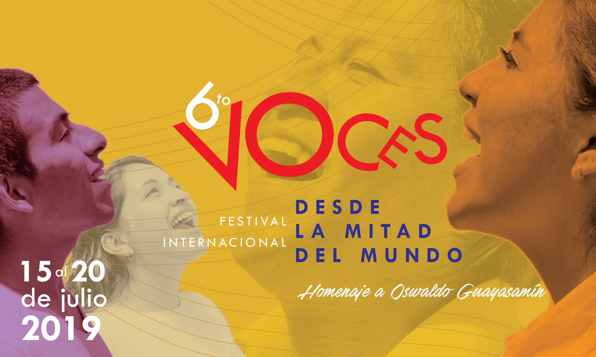 6to Festival Internacional Voces desde la Mitad del Mundo